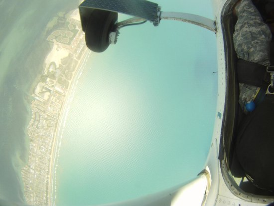 Skydive South Padre Island: View right before we left the plane
