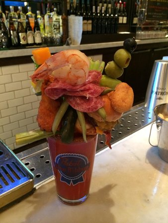 ARIA Resort & Casino: Crazy Bloody Mary in the pub!