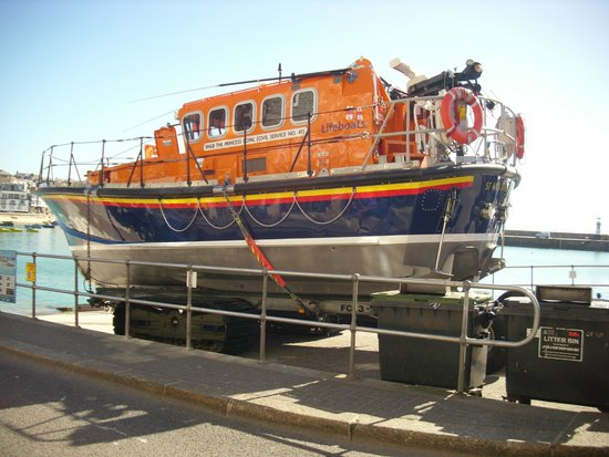 the lifeboat outside the lifeboat inn