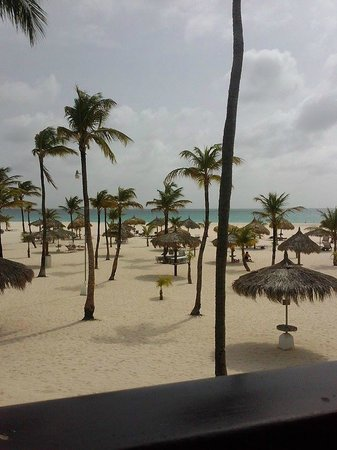 Manchebo Beach Resort & Spa : Everyday it looks like this.  Our view from room 47