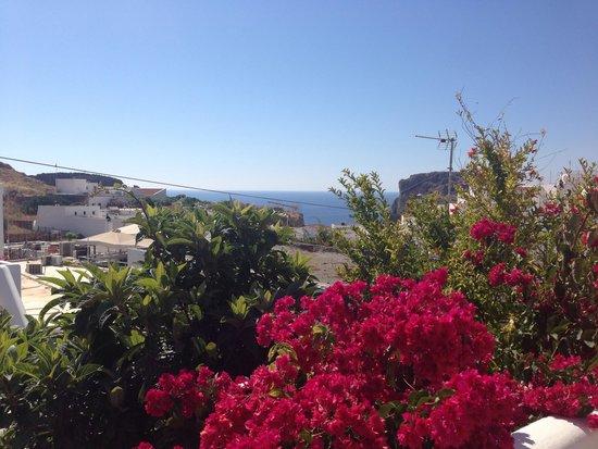 Vista dalla terrazza degli Erato Apartments