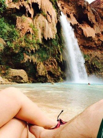 Havasupai Falls : base of the falls