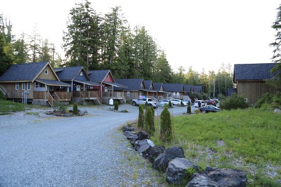 Reef Point Cottages: Vue d'une partie des cottages