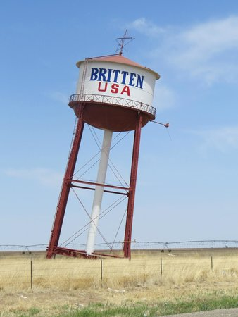 The Britten Water Tower in Groom