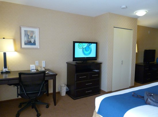 Holiday Inn Express Hotel & Suites Riverport: Junior Suite view from bed