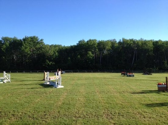 Birds Hill Provincial Park : One of the large horse show fields - beautiful sky