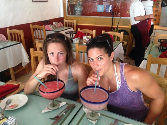 Pipi's : Blueberry and watermelon margaritas!!