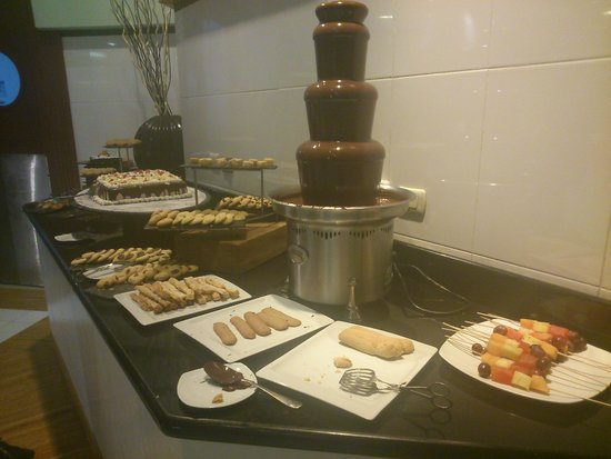 Iberostar Grand Hotel Bavaro: One of the chocolate fountains in the buffet
