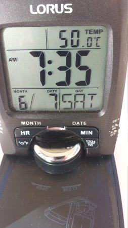 Sharm El Sheikh Marriott Resort : Temp on our balcony first thing in the morning.