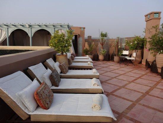 Riad Kniza Restaurant : Sur le toit
