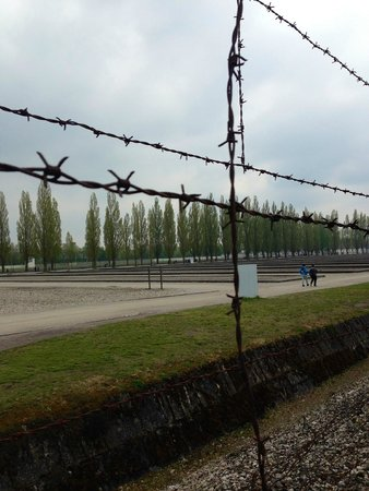 KZ-Gedenkstätte Dachau: the wire that separated them from the rest of the world
