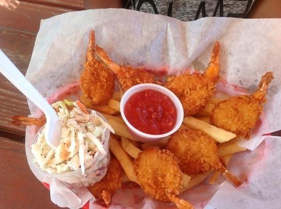 Crabby Chris : fried coconut shrimp