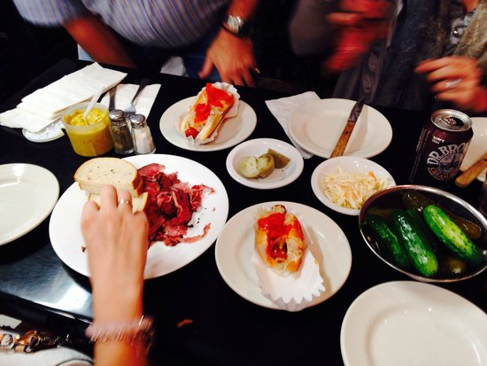 Famous Fat Dave's Food Tours: Pastrami, hot dogs and pickles at Jay & Lloyds
