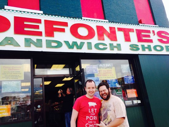 Famous Fat Dave's Food Tours: Egg and potatoes at DeFonte's