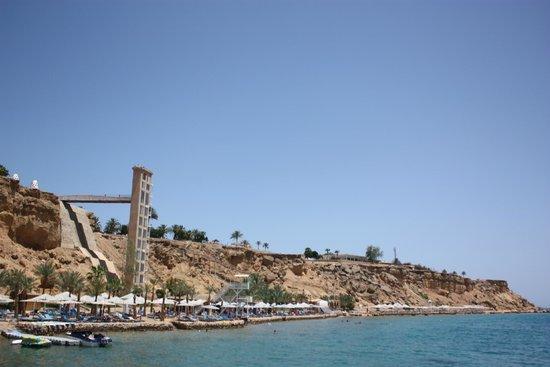 Aqua Blu Sharm : Лифт спускается к морю