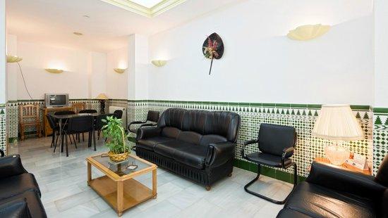 Hotel Mirasol: Sala de televisión