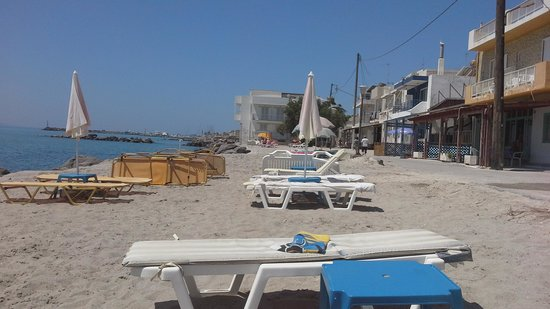 Studios Ladikos Beach: the private  beach