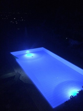 Royal Heights Resort : private pool at night