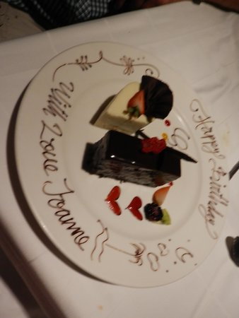El Dorado Royale, a Spa Resort by Karisma: just mentioned its my partner birthday and this what we got for desert