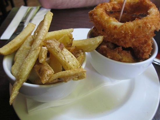 Gourmet Burger Kitchen: Chips (Fries) and Onion Rings