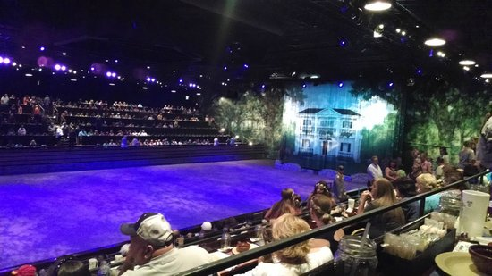 Dolly Parton's Dixie Stampede Dinner & Show: Prior to Show! No cameras allowed once started.