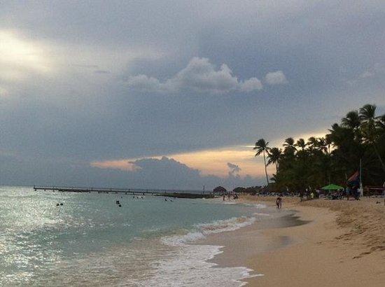 Iberostar Hacienda Dominicus : sunset towards dominicus beach
