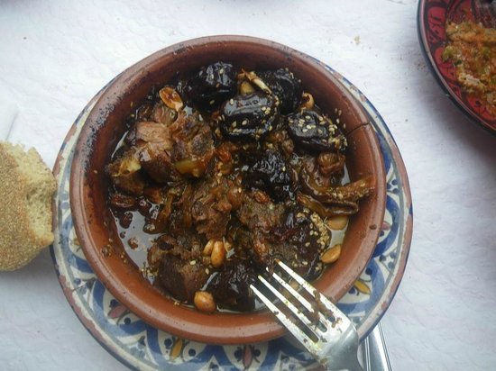 Restaurant Morisco: Tajine with goat meat and prunes