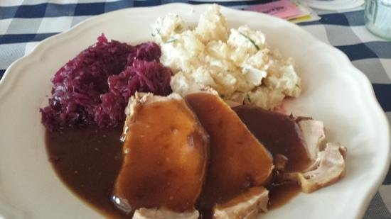 The Bavarian Haus: Pork Tenderloin,cabbage & german potato salad