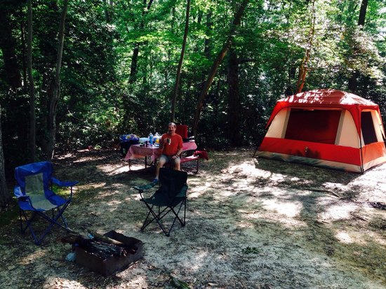 Williamsburg KOA Campground: Our Tent Camp in the Shade!