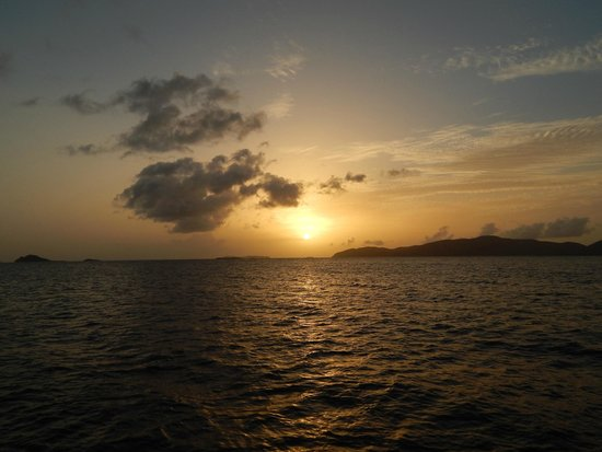 Cruise Ship Excursions: Gorgeous sunset & the islands