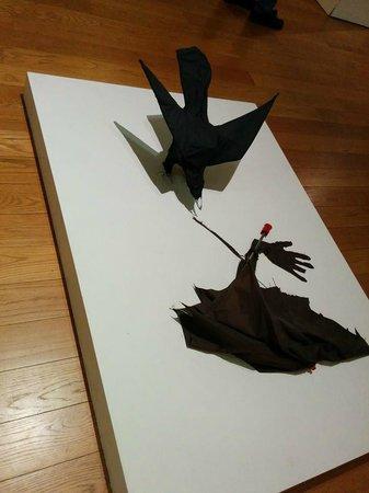 Manchester Art Gallery: umbrella sculpture