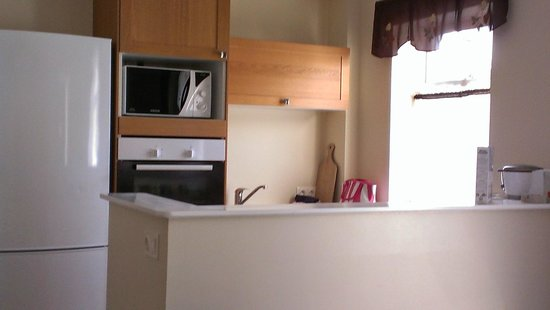 Lighthouse Apartments: Kitchen; microwave, no garbage disposal