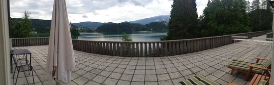 Vila Bled : terrace and view from room 107