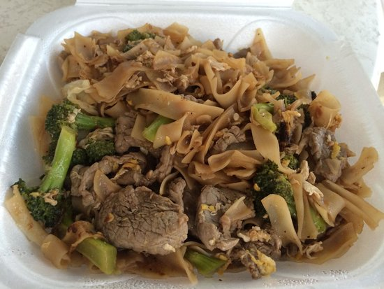 Thai Orchid : Phad Si-ew Beef ordered spicy