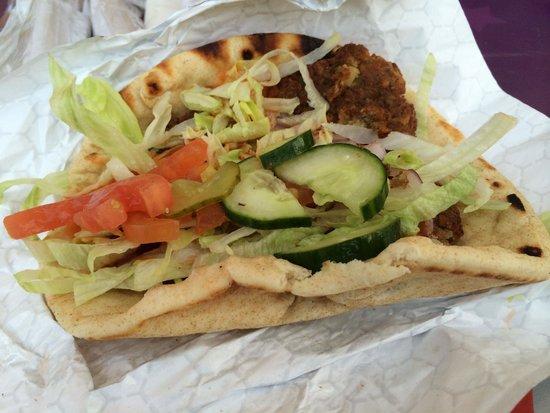 Al La Kebab: Falafel Mediterranean Pita Wrap with Everything on it
