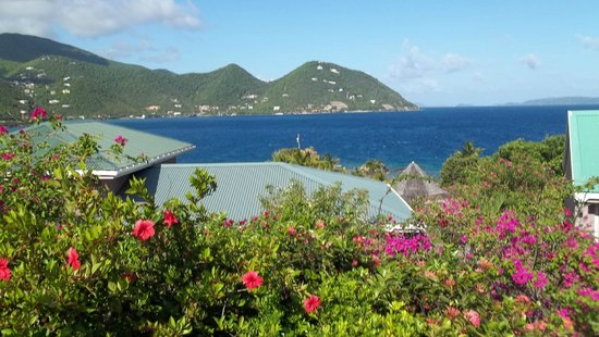 Frenchmans: View from the parking area above the villas