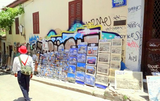 City Sightseeing Athens & Piraeus: Dimitri leading the way to Plaka!