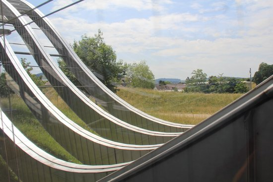 Zentrum Paul Klee (Paul Klee Center): The ample use of glass allows for many views outside