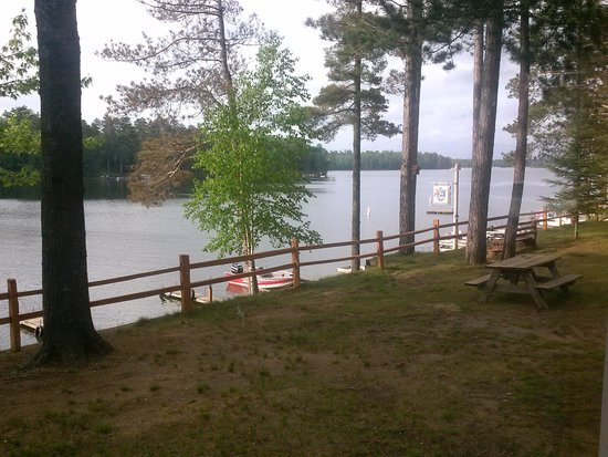 "Elbert's Resort and Condos: view from our cabin ""The Cedar"""