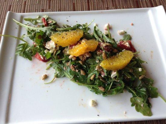 Season's At Highland Lake: Mixed greens, strawberries, oranges and bleu cheese