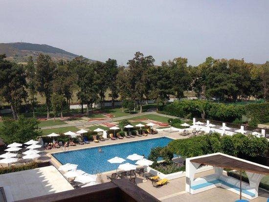 Sensimar Oceanis Beach & Spa Resort: View from room - quiet pool