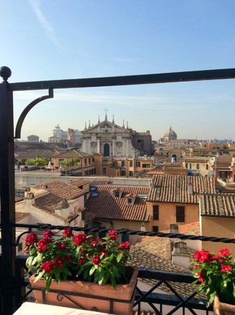 Colonna Palace Hotel : View from Rooftop Terrace