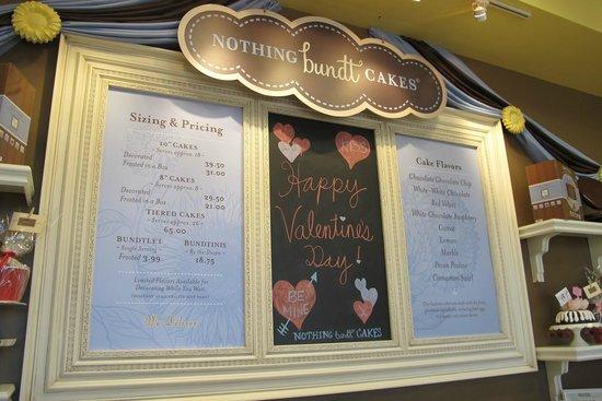 Nothing Bundt Cakes Las Vegas Menu