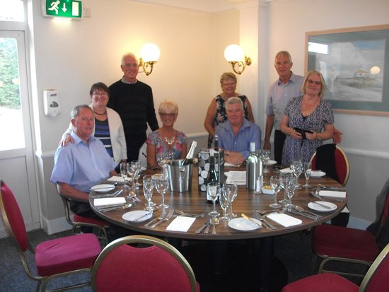 Yarmouth, UK: our group at dinner