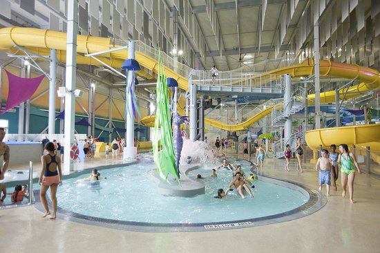 Inside Adventure Bay Family Water Park, Windsor, Ontario