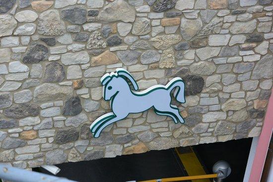 Cavallino Bianco Family Spa Grand Hotel: Il Cavallino Bianco sopra i garage