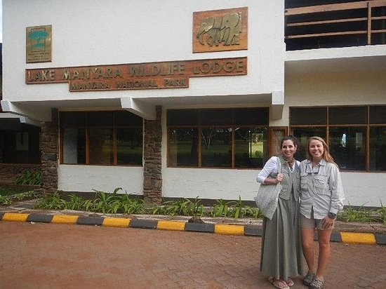 Lake Manyara Wildlife Lodge: The front of the lodge