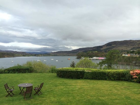 The view from Cuillin Hills Hotel's front porch