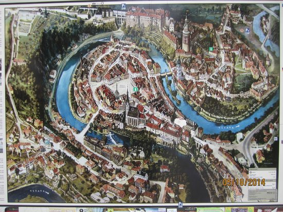 Historic Center of Cesky Krumlov: Old Town Cesky Krumlov MAP