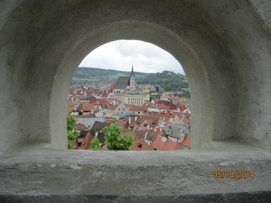 Historic Center of Cesky Krumlov: Cesky Krumlov from Castle